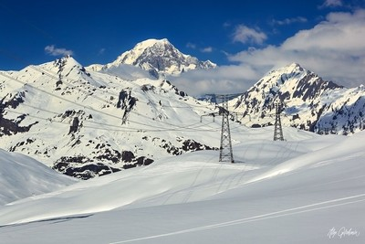 view of Mont Blanc from the Small Saint Bernard pass
