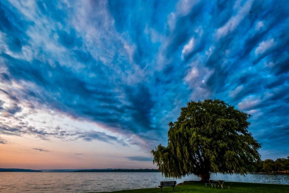 Owasco lake at sunrise