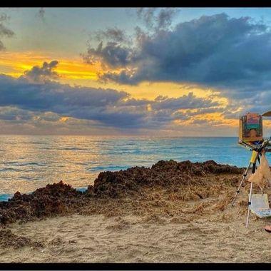 Artist captures sunrise 3-14-21