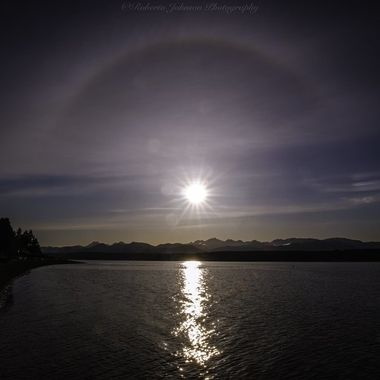 It was so nice to look up and see this above the Olympic Mountains and it was placed perfectly! Hood Canal, Washington, USA
