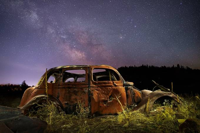 Rusting Under the Stars by tpeakphotos - Rusty Photo Contest
