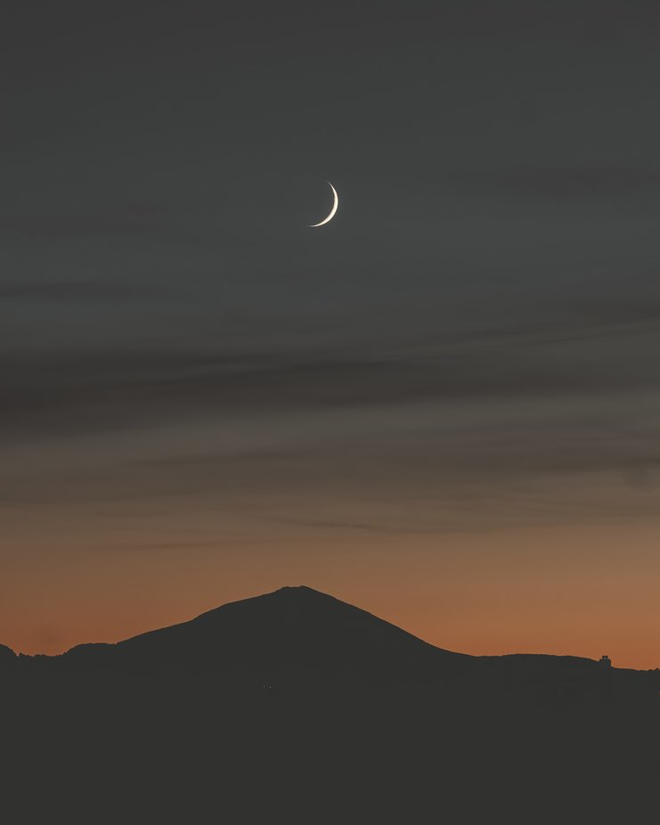 Sunset Moon by PatrikHalten - Mountains And Silhouettes Photo Contest