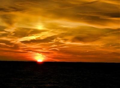 Sunset, Baltic sea