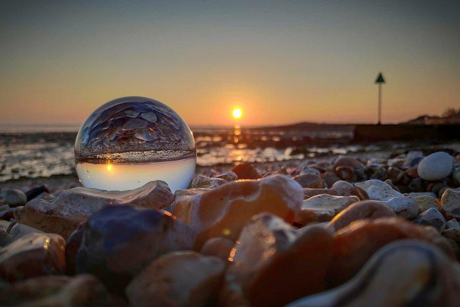 Beautiful sunset in my LensBall