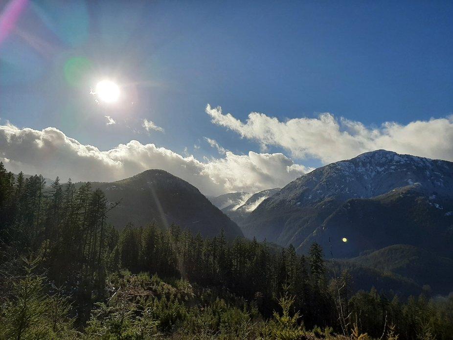 Mountain road, beautiful day!