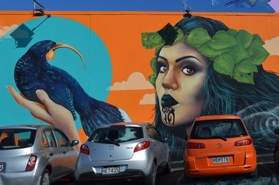 Street Art Māori Wahine with Ta moko