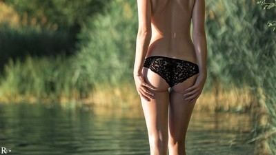 Woman at the lake
