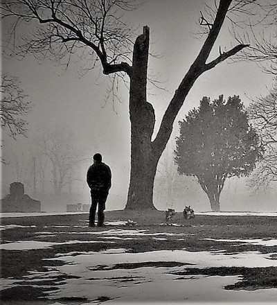 Man In The Fog, In The Graveyard