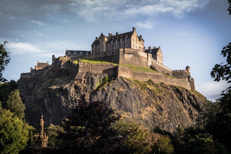 view on Edinburgh castle in Scotland