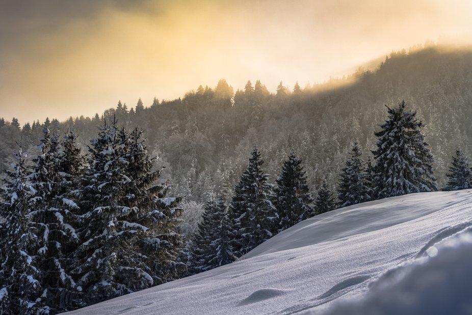 winter in Bavaria in Germany