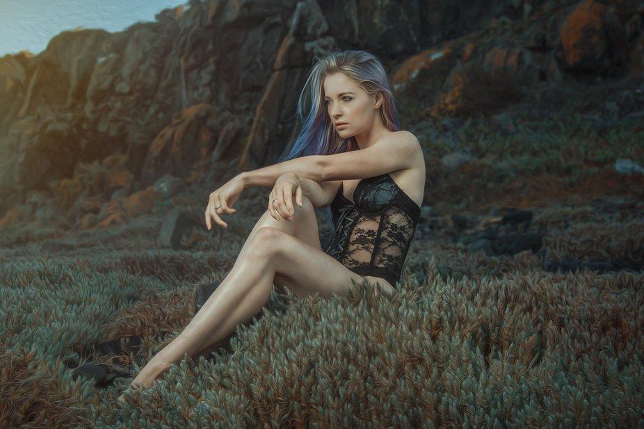 Portrait of a model, taken by Lujean Burger.