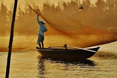 Sunrise on the Thu Bon River