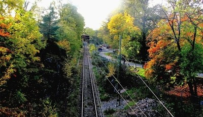 Railway track in the autumn