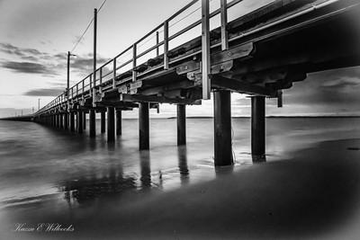 The Pier In B&W