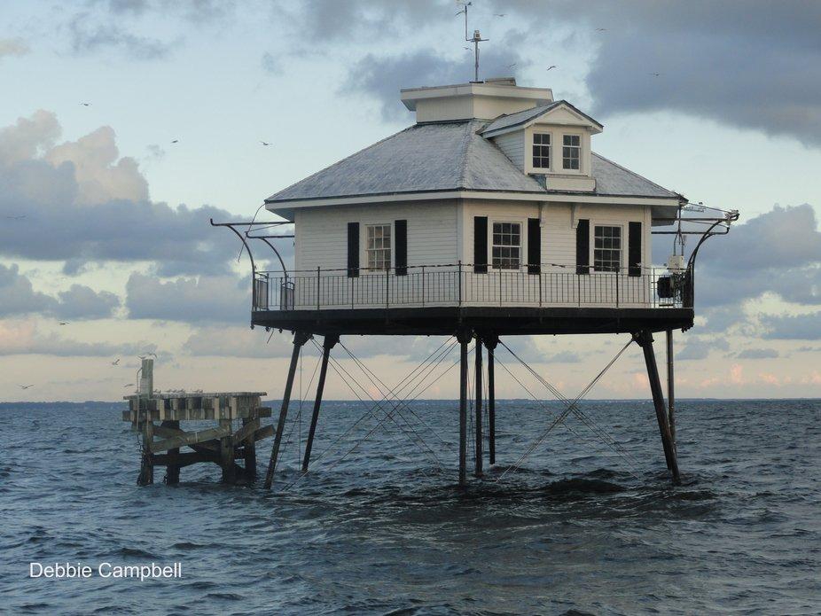 Mobile Bay Lighthouse, Mobile, Alabama, USA.