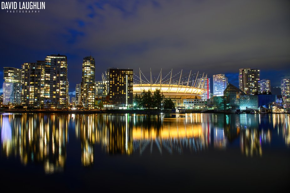 BC Place glows yellow for the Canadian Cancer Society's annual Daffodil Campaign. The in...