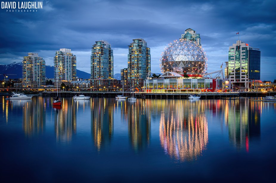 Vancouver Night Shot - Science World (2021)