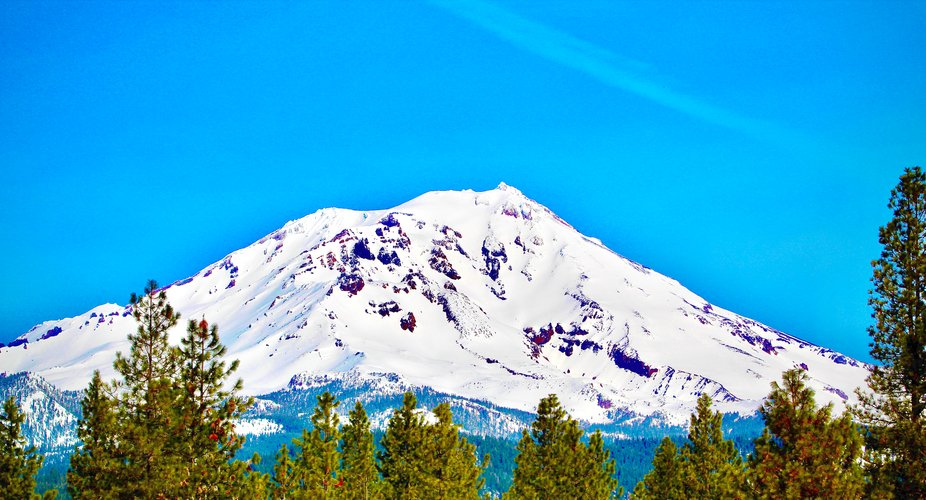 Mount Shasta in the Spring