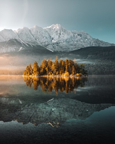 Sunrise at the Eibsee