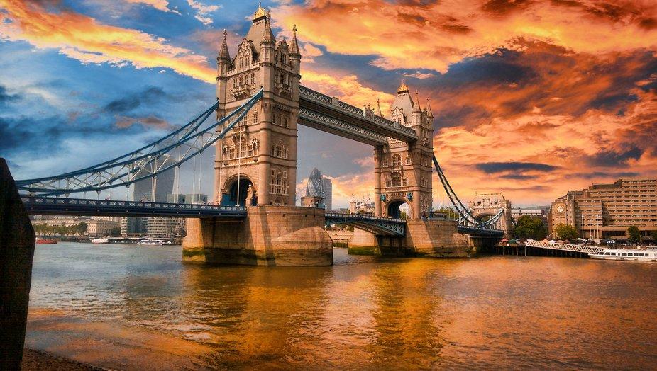 Tower Bridge sunset skies