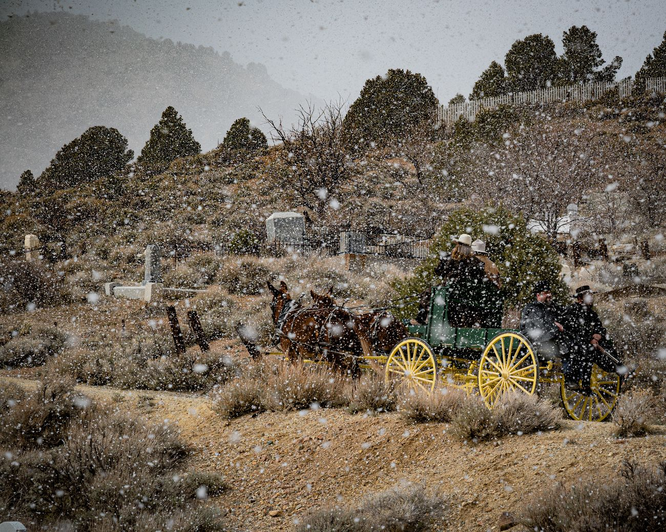 An 1800's style funeral procession for an Icon of Virginia City NV