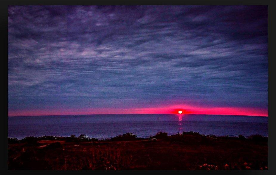The 1st Sunrise Daily off the Coast of Maine ————————————————#sun...