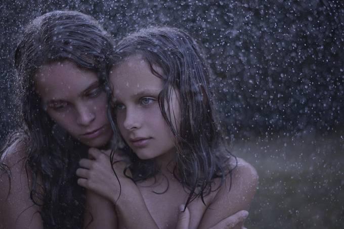 Maya & Sasha under the rain by AnnaRakhvalova - Capture Rain Photo Contest