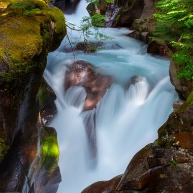 Located in Glacier National Park.