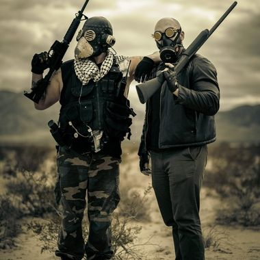 In a post-apocalyptic desert wasteland, two Kings lead their militias against each other. Armed to the teeth, who will win?  Shot in the Southern California Desert.