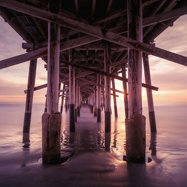 Long Exposure of the Balboa Pier at Sunset
