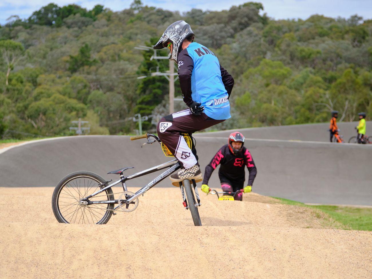 Having fun on a BMX