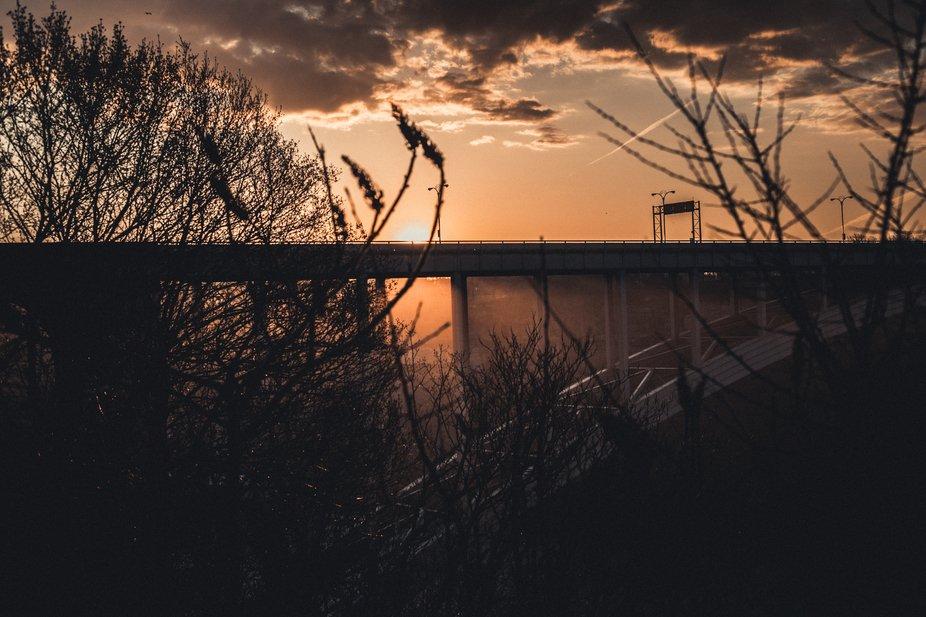 The rainbow bridge Niagara Falls Canada side