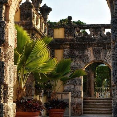 Vizcaya Gardens at sunset