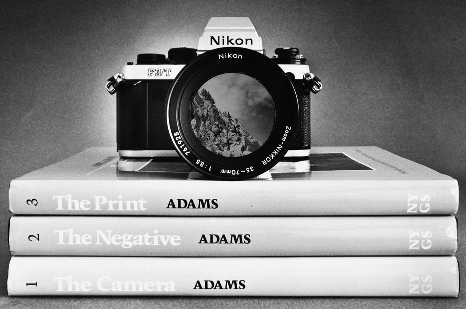 I pay tribute to the Greatest B-W landscape photographer Ansel Adams with this photomontage: Niko...