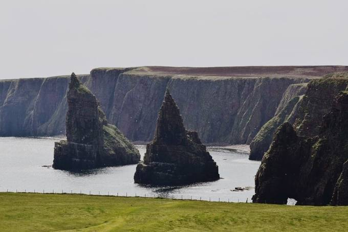 Duncansby Stacks. Caithness, Scotland. In the very north east point of Great Britain.