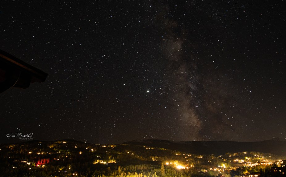 Milky Way over Snowmass Mountain