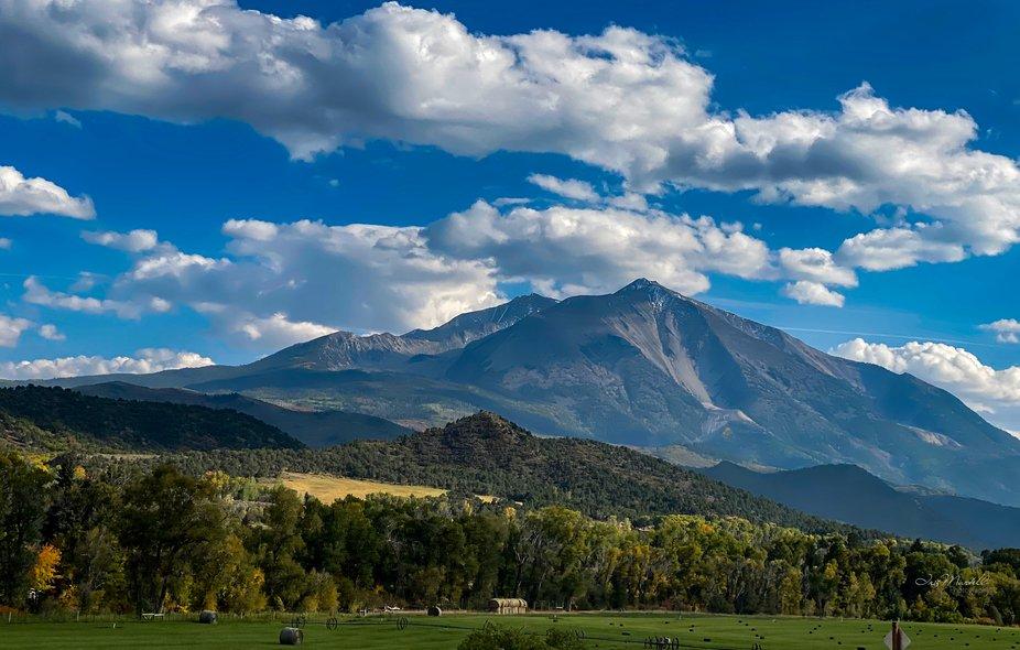 Mount Sopris - Taken with an iPhone