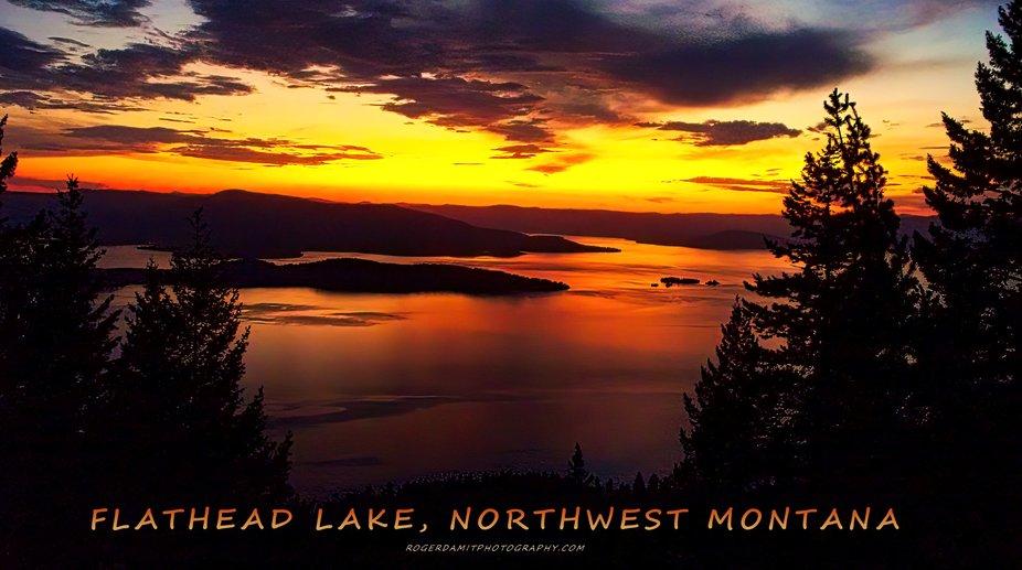 Flathead sunset signed