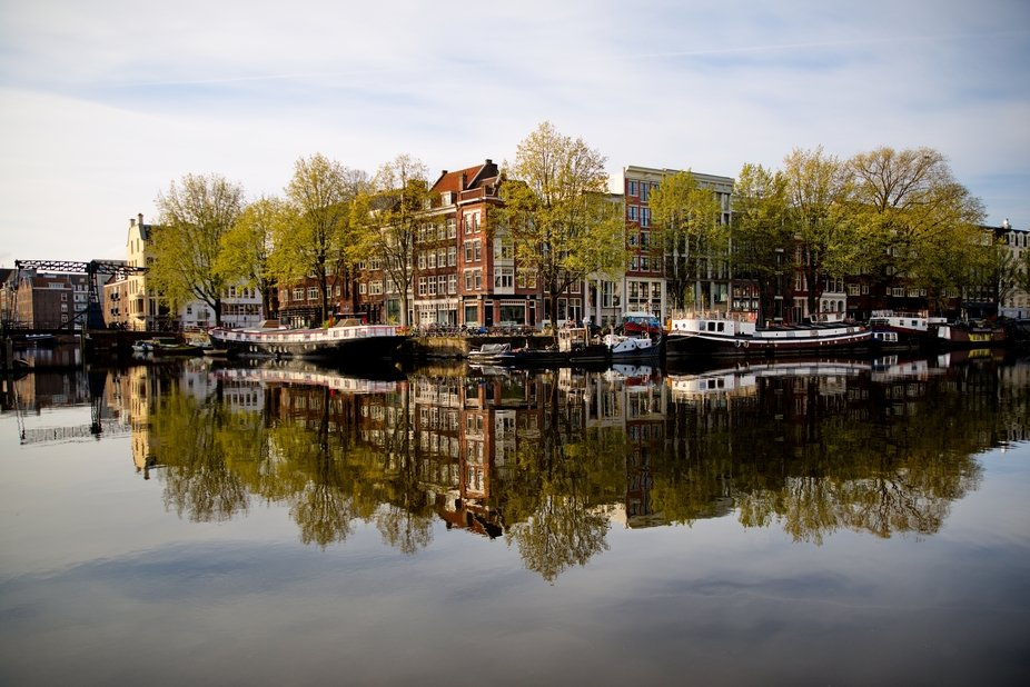 Spring reflection - the beauty of Amsterdam