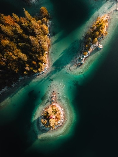 The Eibsee from above