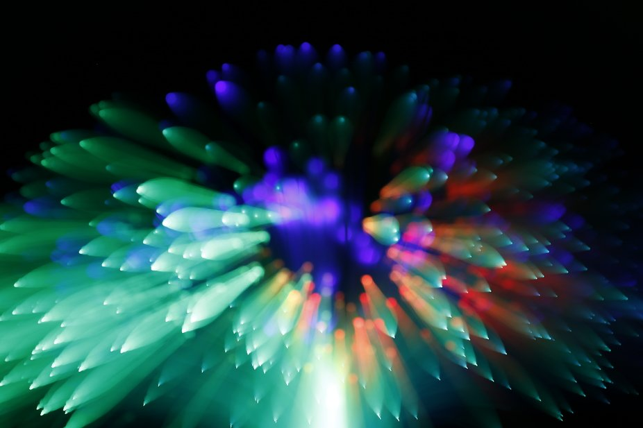 Light trails of led lights by use zooming effects