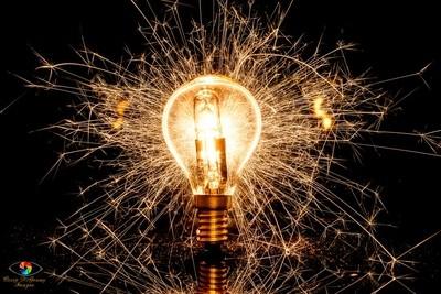 Sparking lightbulb
