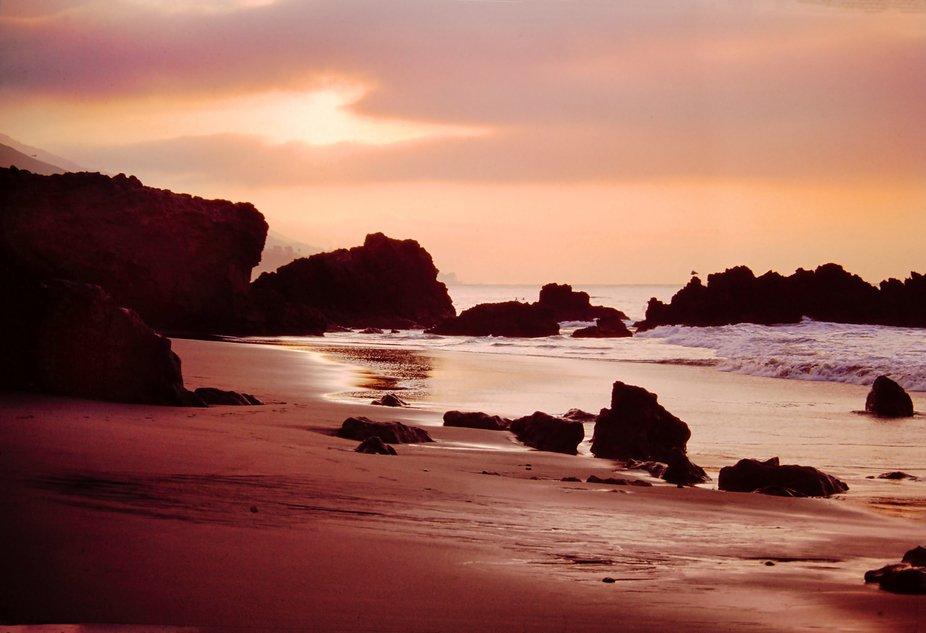 Woke early to capture the February sunrise north of Malibu. Look carefully and you'll se...