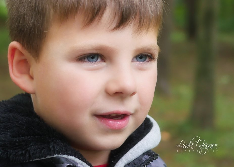 This young boy is always on the search for a new plan, he is very outgoing.  :)