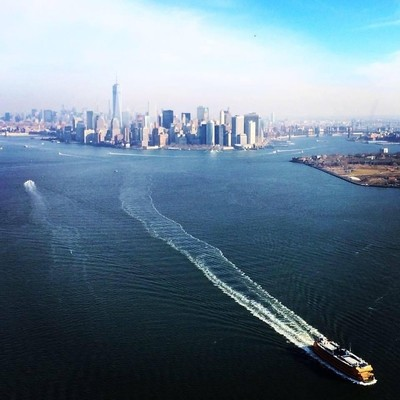 Taken in 2014 in NYC from a helicopter