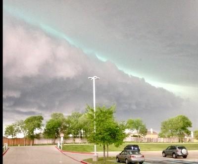 Calm before the devastating hail storm