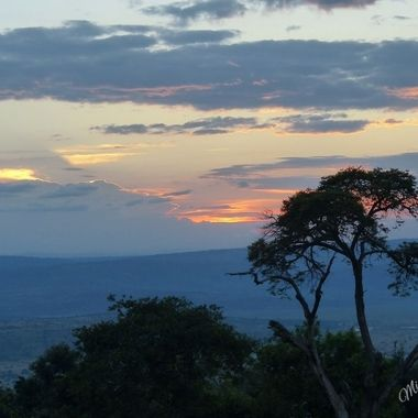 Sunset from Akagera Game Lodge in Akagera National Park, Rwanda