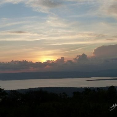 Sunrise over Lake Ihema from Akagera Game Lodge in Akagera National Park, Rwanda