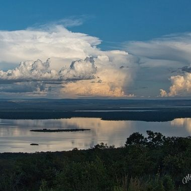 Storm Clouds taken from Akagera Game Lodge over Lake Ihema