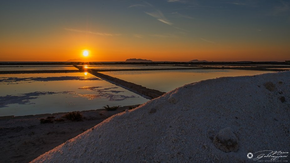 Sunset in the salt pan (2 of 3)